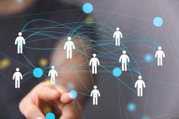 Fototapeta organization chart team concept networking technology.