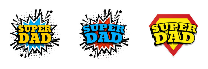 Happy father day. Super dad Fotomurales