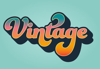 Colorful Vintage Text Effect