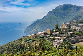 View of village  Montepertuso above Positano.