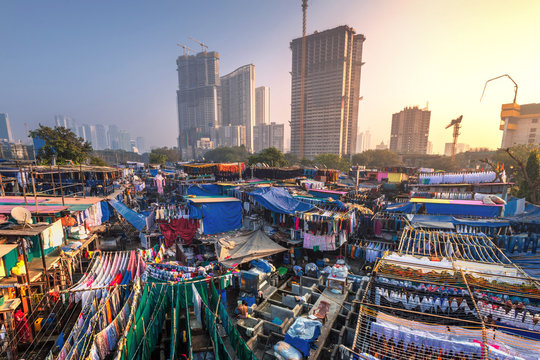.Dhobi Ghat also known as Mahalaxmi Dhobi Ghat is the largest open air laundromat in Mumbai. one of the most recognizable landmarks and tourist attractions of Mumbai