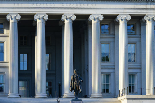 United States Treasury Department Building in Washington D.C. Unted States of America
