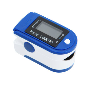 Pulse Oximeter over white with Clipping Path