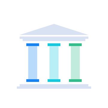 Three pillars diagram. Clipart image isolated on white background