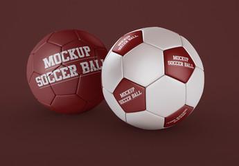 2 Soccer Ball Mockup