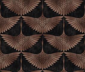 Brown a bird kirki wallpaper with dark concrete background - 353444712