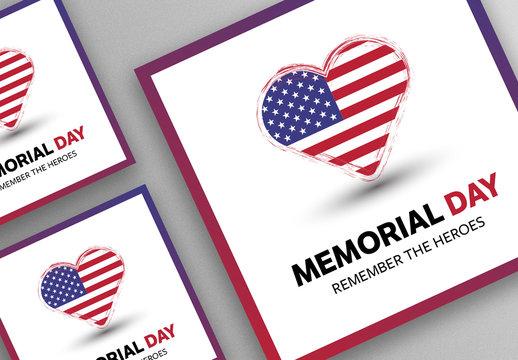 Memorial Day Social Media Post Layout