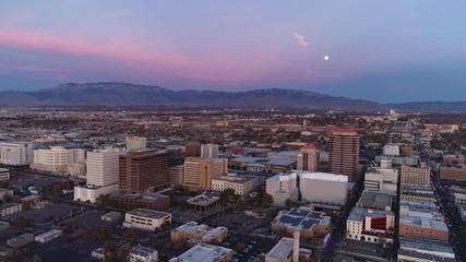 Fototapete - Albuquerque Sunset Aerial
