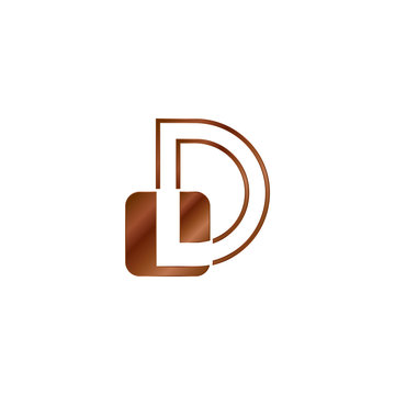 Abstract Techno Outline Letter D Logo Vector Design Template with negative space letter on geometrical rounded square shape.