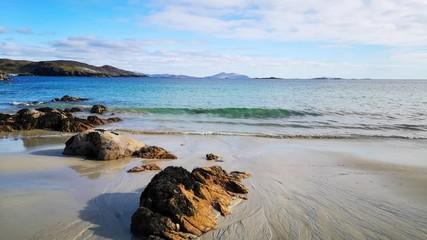 Wall Mural - The sandy beach at Hushinish on the Isle of Harris in Scotland