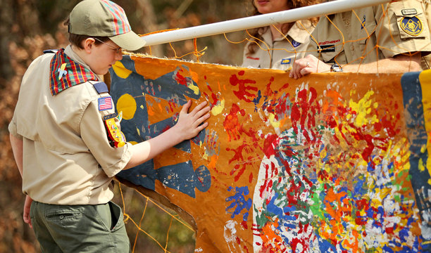 Boy Scout Crossing Over to Webelos