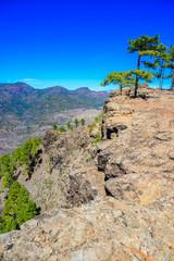 Hiking in Mountain Scenery of Gran Canaria Island - beautiful landscape scenery at mountain village Soria - travel destination, Spain