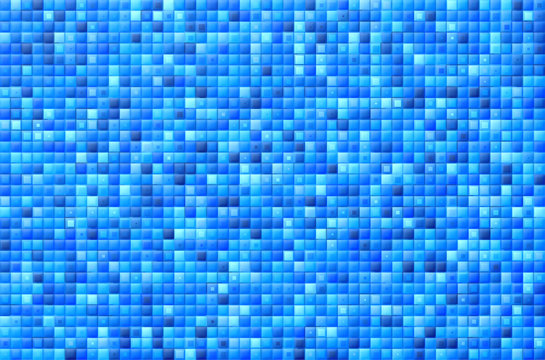 Abstract background of random embossed blue mosaic with strokes