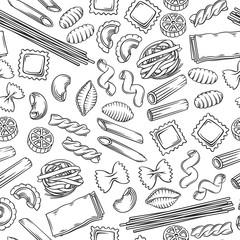 Slats personalizados para cozinha com sua foto Italian pasta seamless pattern