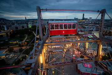 Live streaming event at the Vienna Giant Ferris Wheel