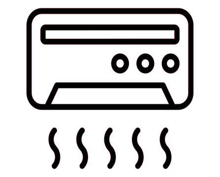 Air Conditioning icon vector for web and app