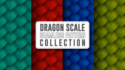 dragon scale seamless pattern collection