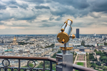 Wall Mural - Binoculars or telescope in Paris