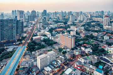 Wall Mural - Bangkok city in the evening