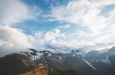 壁紙(ウォールミューラル) - Dramatic view of high ridge. Location Grossglockner high alpine road, Austria, Europe.