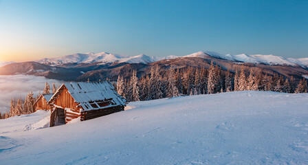 Wall Mural - Picturesque view of the countryside. Location Carpathian mountains, Ukraine, Europe.