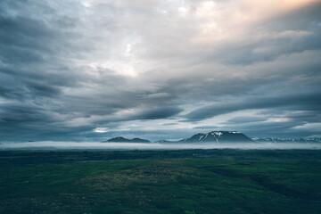 壁紙(ウォールミューラル) - Dramatic view of the geothermal valley Leirhnjukur. Location Northeastern region, Iceland, Europe.