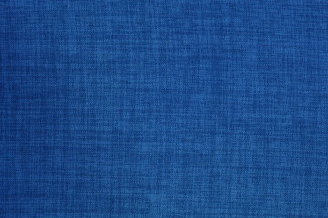 Dark blue linen fabric cloth texture background, seamless pattern of natural textile.