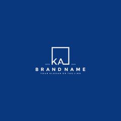 Obraz letter KA logo design vector - fototapety do salonu