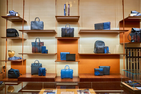 HONG KONG - NOVEMBER 23, 2016: inside of Louis Vuitton store. Louis Vuitton Malletier is a French fashion house.