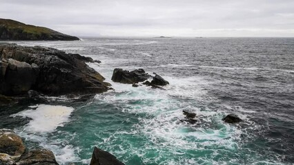 Wall Mural - Stormy seas at Hushinish on the Isle of Harris in Scotland