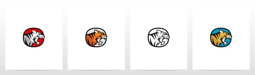Tiger On Letter Logo Design O