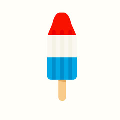 4th July rocket popsicle icon. Clipart image isolated on white background