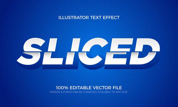 Sliced Editable Text, Cutout Effect