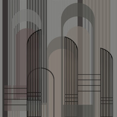 A group of curved lines overlapped - 353639557