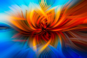 Twirl Effect Abstract Digital Art Background Wall mural