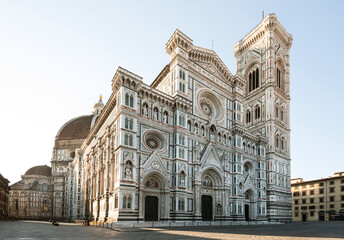 Foto op Canvas Florence Florence Cathedral no people Duomo di Firenze Santa maria del Fiore senza persone