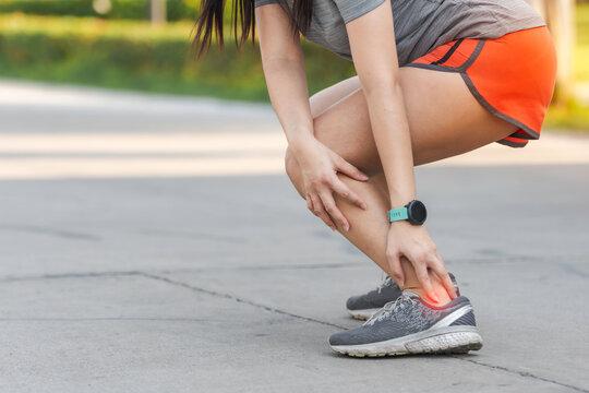 Hamstring pain common running injury.