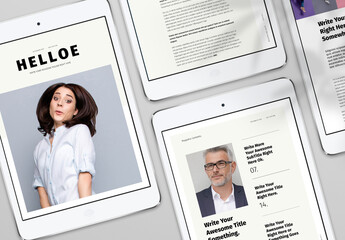 Digital Magazine Layout