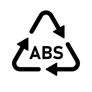 Plastic recycle symbol ABS 9 vector icon. Plastic recycling code ABS 9.