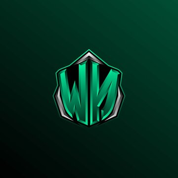 Initial WN logo design, Initial WN logo design with Shield style, Logo for game, esport, community or business.