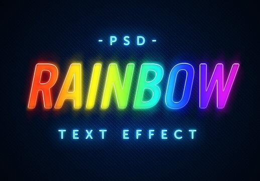 Rainbow Color Text Effect