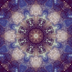 Digital art fractal background.  Psychedelic futuristic abstract pattern.