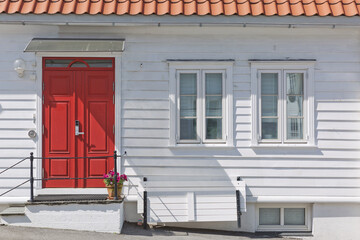 Traditional wooden houses in Gamle, which is a historic area of the city of Stavanger in Rogaland, Norway