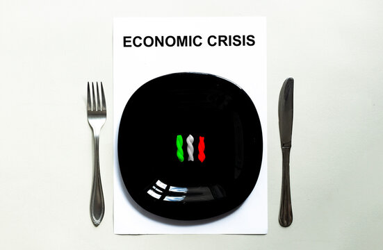 Black plate pasta, countries of the world, economic crisis ITALY