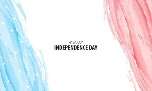4th of July - Independence Day Background with Watercolor Style