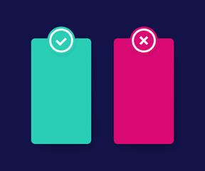 positive and negative list design, vector