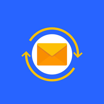 resend mail icon, flat vector