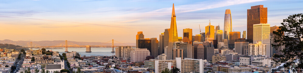 Wall Mural - Panorama Sunset San Francisco