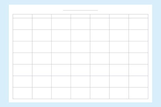 Blank calendar planner template. Vector image of the schedule of the week.