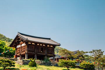 Chiljangsa temple, korean traditional architecture in Anseong, Korea